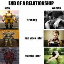 Funny Memes About Women - relationship end men vs women funny memes pics bajiroo com