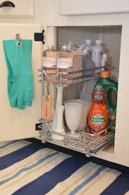 bathroom silver metal shelves under sink organizer for bathroom