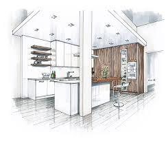 kitchen design sketch hand rendering architectural sketches pinterest apartment