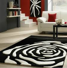 Modern Black And White Rugs Continental Classical Black And White Carpet Manual Acrylic Living