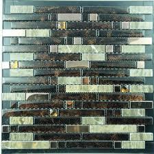Stainless Steel Mosaic Tile Backsplash by Metallic Mosaic Tile Diamond Strip Brushed Aluminum Metal