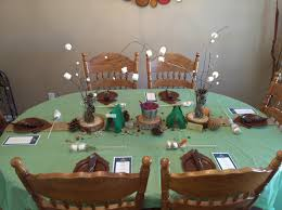 Baby Shower Table Setup by Camping Themed Baby Shower Table Setup Baby Shower Ideas