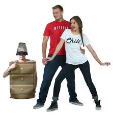44 Homemade Halloween Costumes Adults Homemade Halloween Diy Netflix Chill Couples Halloween Costume Halloween