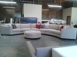furniture oversized curved sectional sofa with cushion plusround