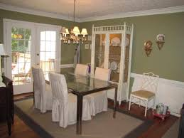 chair rail large and beautiful dining green dining room color