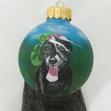 custom pet portrait personalized christmas ball dog
