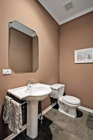 Rough In For Pedestal Sink Traditional Powder Room With Slate Tile Floors U0026 Pedestal Sink In