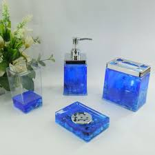 bathroom accessories sets blue home design ideas