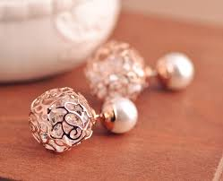 stud earrings online new korean pearl earrings cz zircon studs earrings