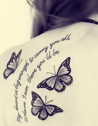 my is big enough to carry you all flying butterflies tattoos