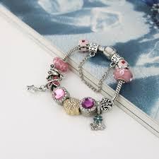 bracelet murano images Murano glass beads crystal paw prints bracelet pup bling jpg