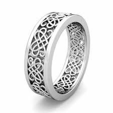 Wedding Ring For Men by Custom Celtic Heart Knot Wedding Band Ring For Men And Women