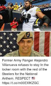 Army Ranger Memes - 15 veriz w 863 former army ranger alejandro villanueva refuses to