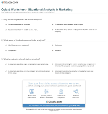quiz u0026 worksheet situational analysis in marketing study com