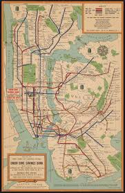Interactive Nyc Subway Map by Detailed Illustrated Map From The 1950s Shows Over 300