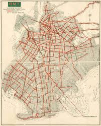 New York Bus Map by New York Streetcars 1930 Sharemap Org