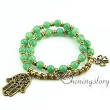 bracelet stone beads images Om bracelet ohm jewelry double layer wrap bracelets semi precious jpg