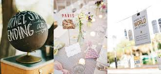 theme wedding decor travel themed wedding ideas