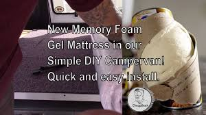 598 Best Mattress Toppers Images New Memory Foam Gel Mattress In Our Simple Diy Campervan Quick