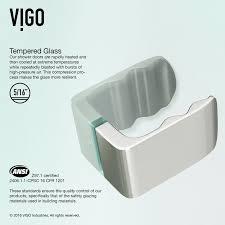 24 Frameless Shower Door Vigo Tempo 70 X 24 Hinged Frameless Shower Door Reviews Wayfair