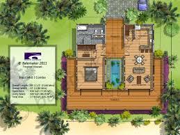 2 bedroom floor plansmodern tropical house plans villa laferida