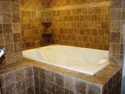bathroom tub tile design uses brick pattern tile shower with