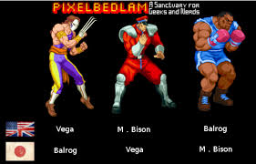 from street fighter main character name why is capcom using different names for these three in japan usa