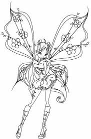 flora coloring pages 93 best winx club images on pinterest winx club coloring pages
