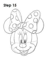 draw minnie mouse step 11 draw minnie mouse
