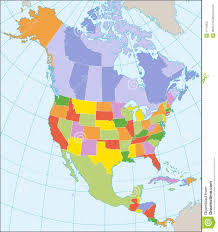 Maps North America by North America Political Map Royalty Free Stock Photography Image