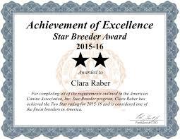 raber pattern works clara raber dog breeder star breeder certificate