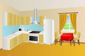 cuisine moderne jaune cuisine moderne chambre beige table bleu jaune fauteuil