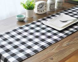 Coffee Table Runners Buffalo Check Runner Etsy