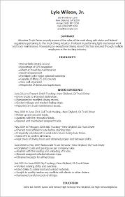 truck driver resume sample truck driver resume example truck driver resume sample and tips