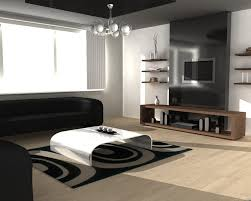 luxury living room decoration with black furniture sofa white