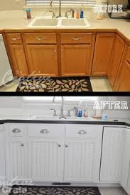 Kitchen Cabinets Redo by 120 Painted Cabinet Makeover Using Sherwin Williams White Duck