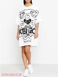 womens kenzo dresses white kenzo tiger logo t shirt dress 37 63