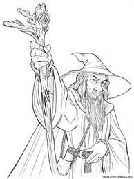 hobbit coloring pages gandalf coloring pages