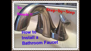 American Standard Kitchen Faucet Installation Instructions How To Install A Bathroom Faucet American Standard Youtube