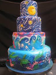 4 tier wicked chocolate starry starry night u0026 ocean themed u2026 flickr