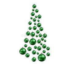 tree made of suspended green balls stock