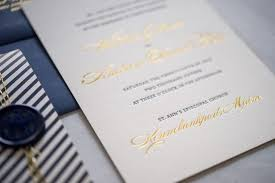 Gold Foil Wedding Invitations Preppy And Nautical Gold Foil Wedding Invitations Oh So