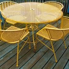Rod Iron Patio Table And Chairs Vintage Iron Patio Furniture Hollywood Thing