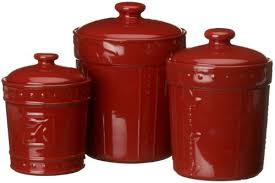 burgundy kitchen canisters signature housewares sorrento collection canisters