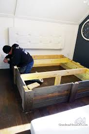 build your own platform bed frame diy grandmas house diy