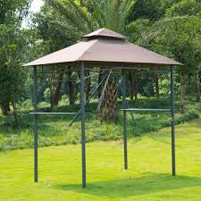 Outdoor Patio Grill Gazebo by Outdoor Patio 8ft Bbq Grill Canopy Barbecue Double Tier Tent