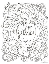 Coloring Pages Fall Printable | free printable fall coloring pages 40 fall coloring pages for adults