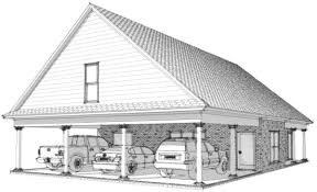 3 Car Garage Plans Creek 3 Car Carport Plans
