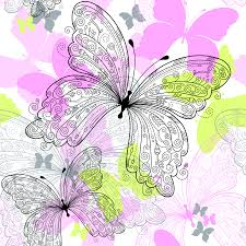 beautiful butterfly pattern 02 vector free vector 4vector