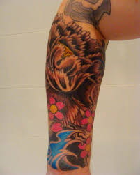 lotus flower tattoo on men half sleeve lotus flower and japanese lucky cat tattoo designs